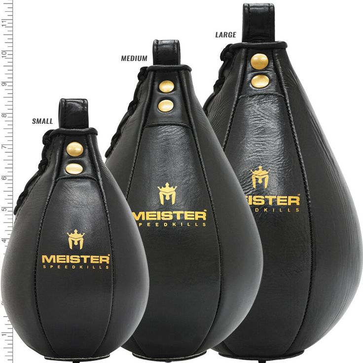 MEISTER SPEEDKILLS GENUINE LEATHER SPEED BAG Boxing Punching Training MEDIUM