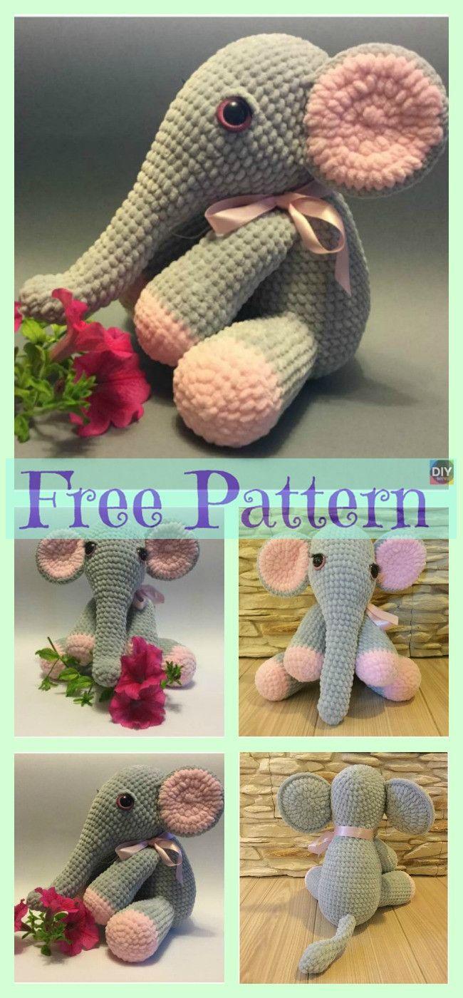 Crochet Lady Elephant - Free Pattern | Crochet crazy