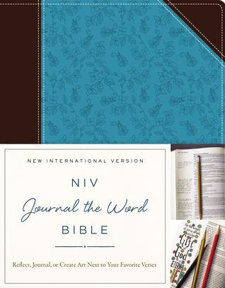 PDF DOWNLOAD] NIV, Journal the Word Bible, Leathersoft, Brown/Blue