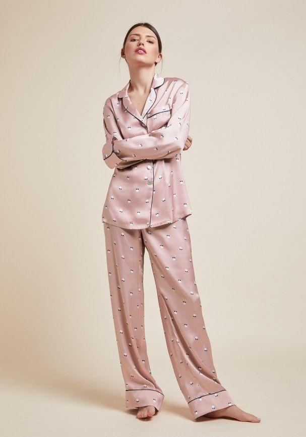 Lila Dolly Silk Pyjama  010f8c935
