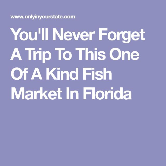 You'll Never Forget A Trip To This One Of A Kind Fish Market In Florida