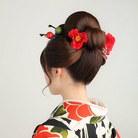 大人の日本髪 #成人式 #成人式ヘア #日本髪 #新日本髪 #女子 #つばき #振袖 #ヘアースタジオカワムラ #美容師 #フォトスタジオプライム