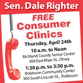 Sen. Dale Righter invites you to an informational seminar on how to protect your money and investments on April 24th!