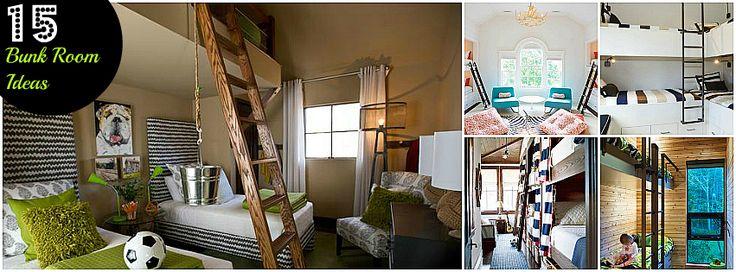 bunk bedsKids Bedrooms, Bunk Beds Room, 15 Bunkroom, Bunk Rooms, Bedrooms Apt, 15 Adorable Bunk Room Ideas, Bunk Bed Rooms, Bunkroom Ideas, Bunkbeds