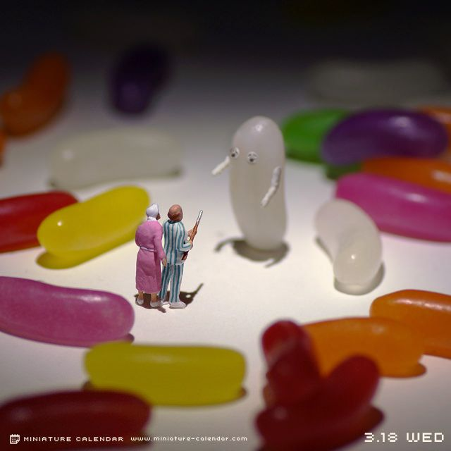 funny art - miniature photography - Ghost...