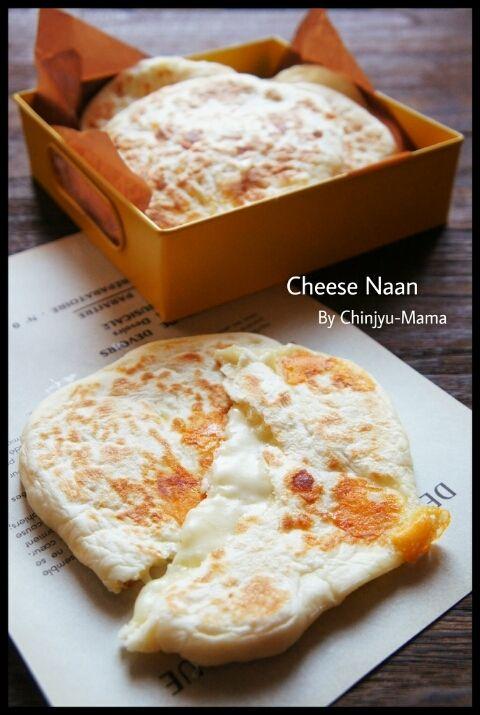 [簡単!] 捏ねない発酵なしの♪チーズ丸ナン と チキンとほうれん草のトマトカレークリームスープ | 珍獣ママ オフィシャルブログ「珍獣ママのごはん。」Powered by Ameba