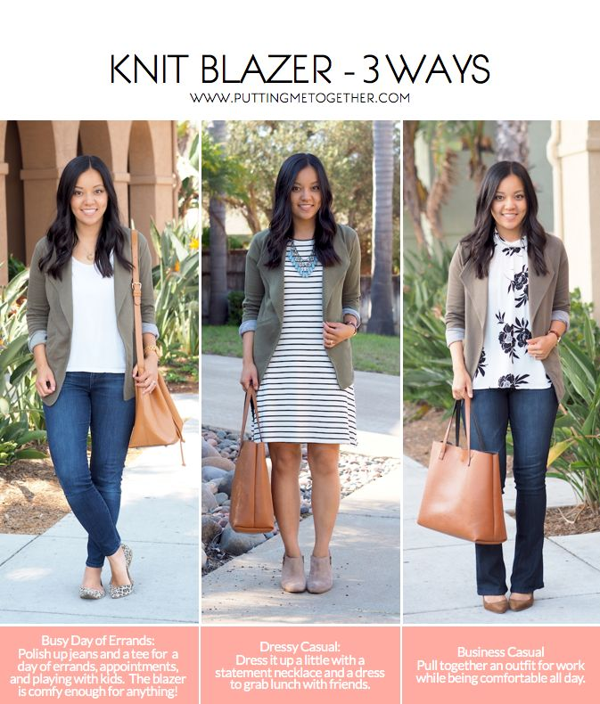 Knit Blazer - How You Can Wear It For Almost Anything | Putting Me Together | Bloglovin'