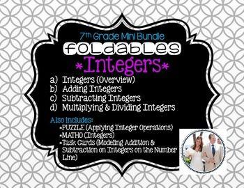 Integers (Foldable & Activity Bundle for 7th Grade Math)