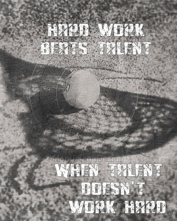 Lacrosse Hard Work Motivational Poster Original Design via Etsy