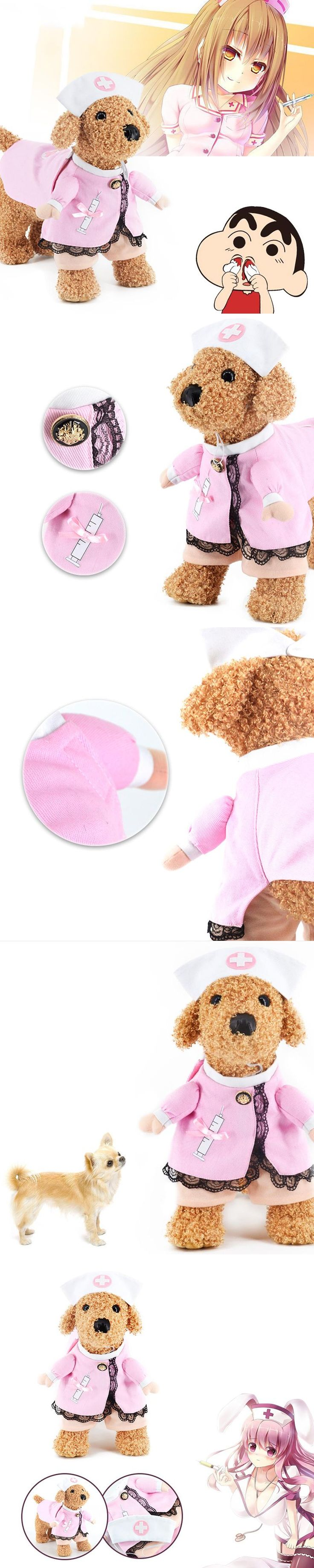 Beishuo pet dog clothes for cosplay sexy nurse dress for small dogs and cats pink fashiondresses 2017 hot sale in aliexpress