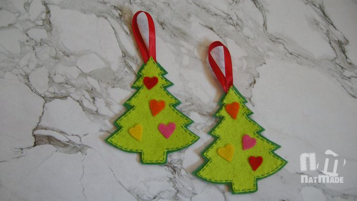 Christmas ornaments set of 2 felt christmas tree ornament Christmas felt…