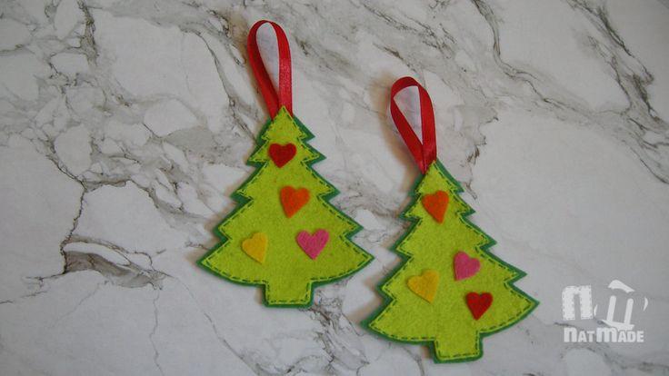 Christmas ornaments set of 2 felt christmas tree ornament Christmas felt…