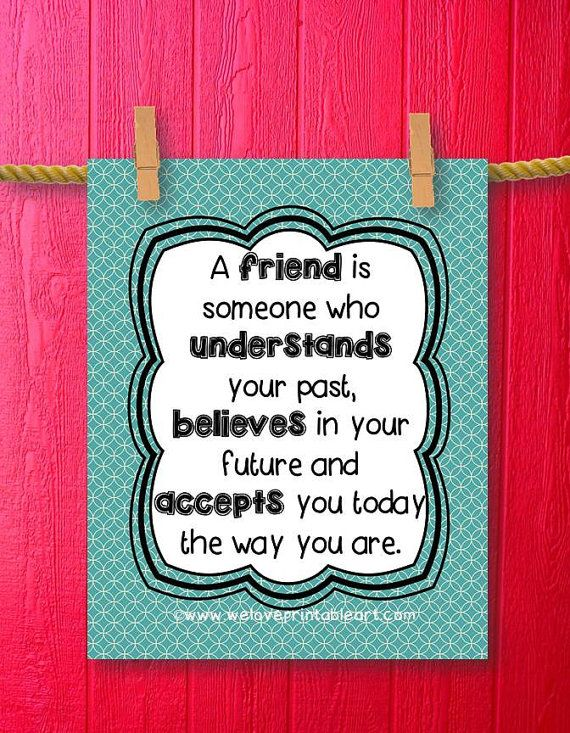 Friend Gift For Woman Teal Wall Art Friendship Quote For