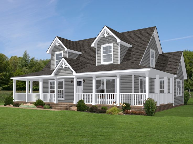 Shown with optional doghouse dormers 2 and site built for Modern homes with wrap around porches
