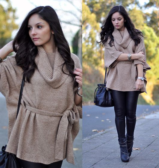 Comfy Camel & Black Leather