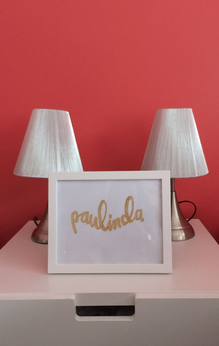 Handmade DIY embossed golden name for kids