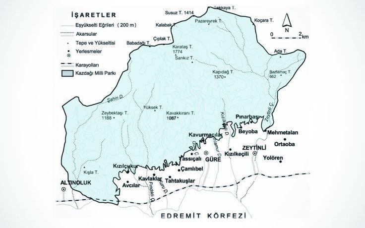 Kazdaglari haritası