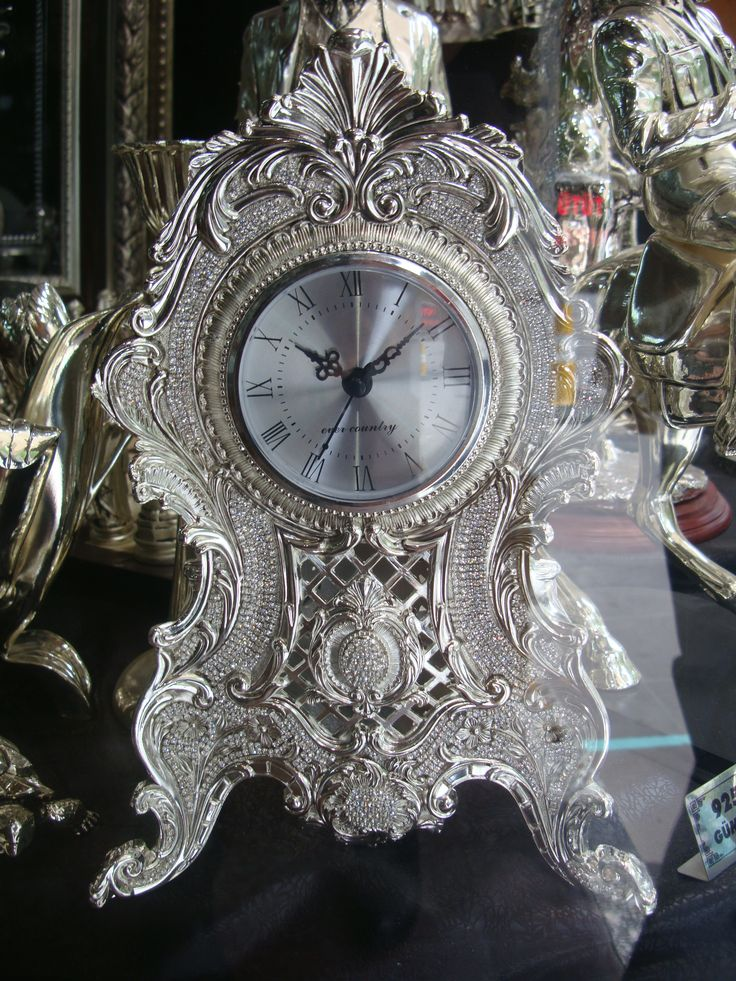vibrant idea 30 inch clock. antique silver clock pictures  Silver vintage is my style 30 best Clocks images on Pinterest Antique clocks