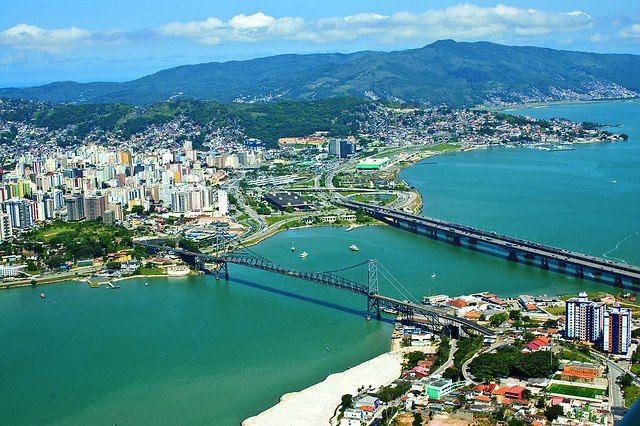 Florianopolis, Santa Catarina, Brazil #aerial