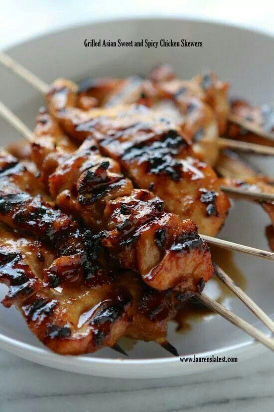Grilled Asian spicy chicken
