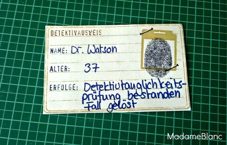 Detektivparty Kindergeburtstag Detektivausweis