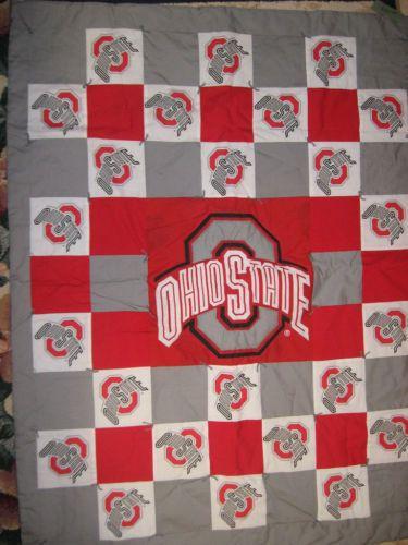 Ohio State Buckeyes Fabric Quilt