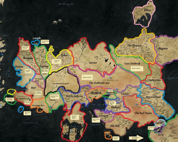 Bildergebnis für game of thrones regions essos