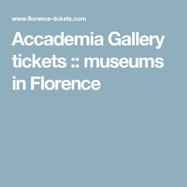 Accademia Gallery tickets :: museums in Florence