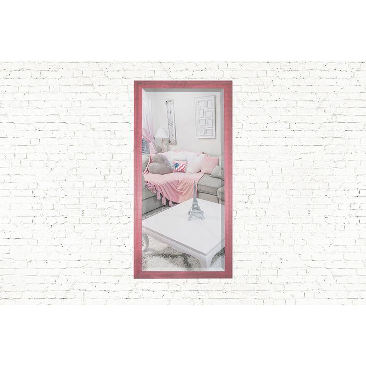 Rayne Mirrors U.S. Made Vintage Pink Framed Mirror (23.5 x 35.5)