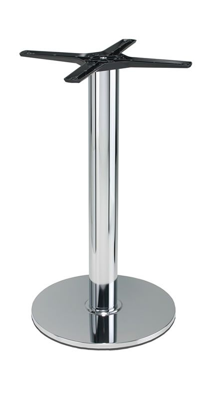 lucci chrome table round base dining posuer or coffee table height. beautiful ideas. Home Design Ideas