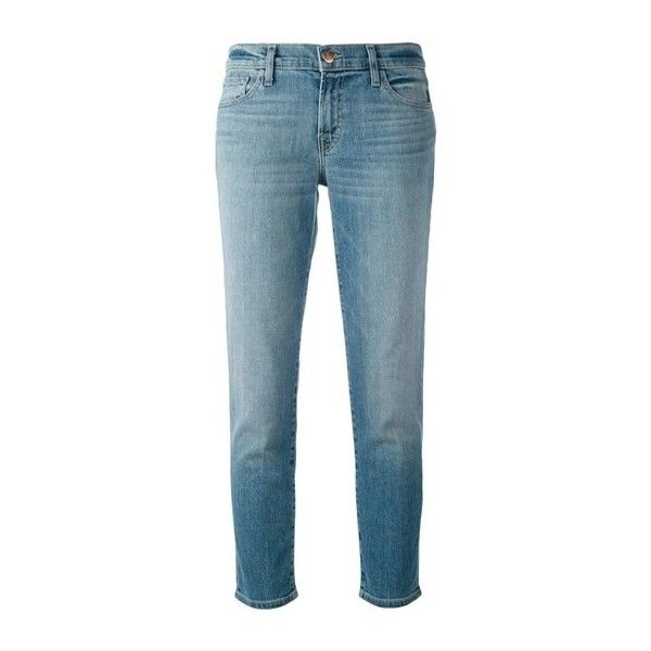 J BRAND 'Sadey' Straight Leg Jeans ($336) ❤ liked on Polyvore featuring jeans, light blue, j-brand straight leg jeans, j brand, blue jeans, cropped jeans and faded blue jeans