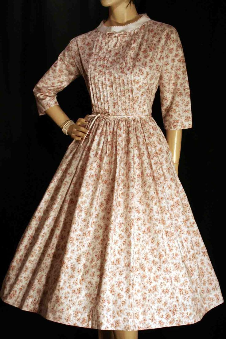 The dress for sale - M Brown Calico Vintage 50s Rockabilly Lucy Full Skirt Dress Jonathan Logan Dresses For Sale50s