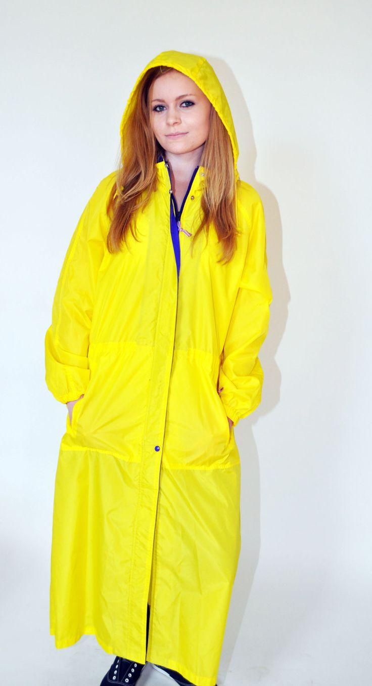 rain coats for women yellow