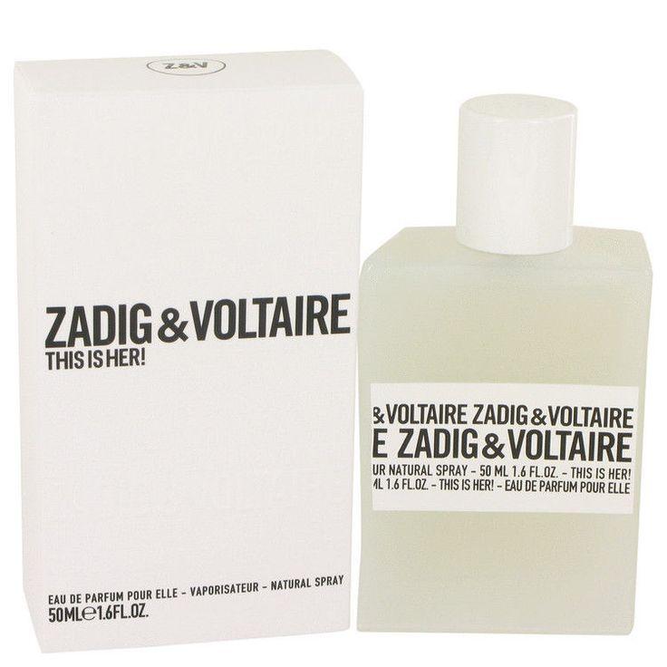 This Is Her by Zadig & Voltaire 1.6 oz Eau De Parfum Spray 50 ml for Women NIB #ZadigVoltaire