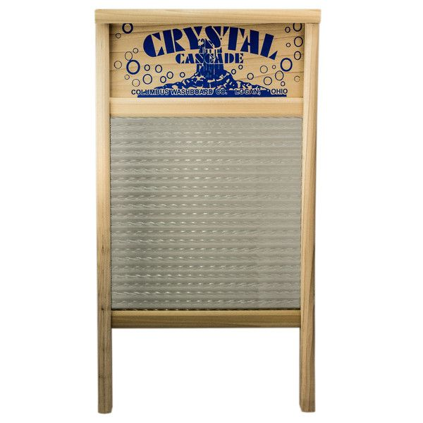 Crystal Cascade Glass Washboard