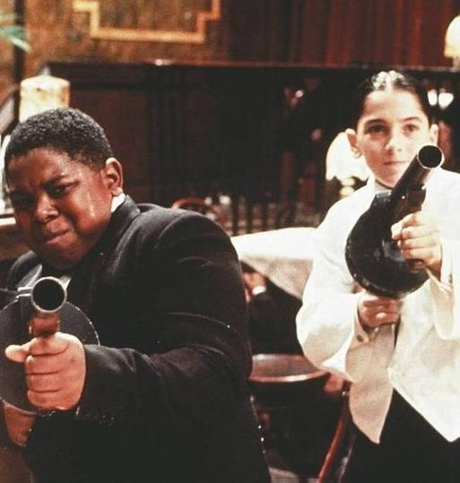 Bugsy Malone musical film   I think my cousins and I wore out many VHS versions go this and definitely did the routines and lines.  We defiantly had fake tommy guns too!