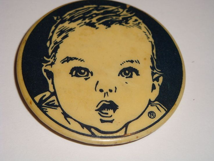 Vintage Gerber Baby Food Round Magnetic Button Gerber Baby Magnet #GerberBabyFood