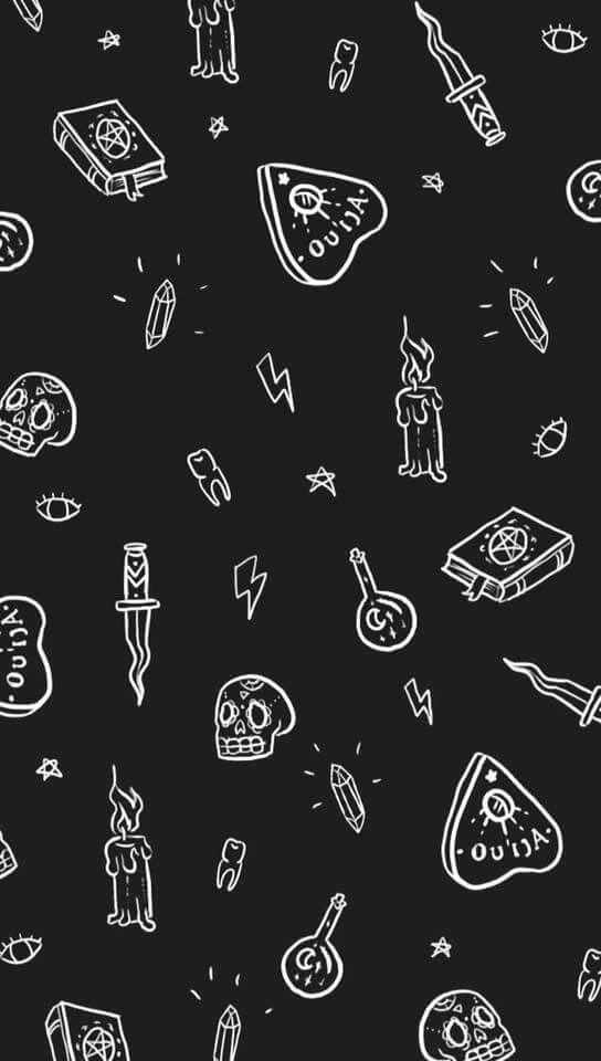 Papel de parede desenhos in 2019 Goth wallpaper, Witchy