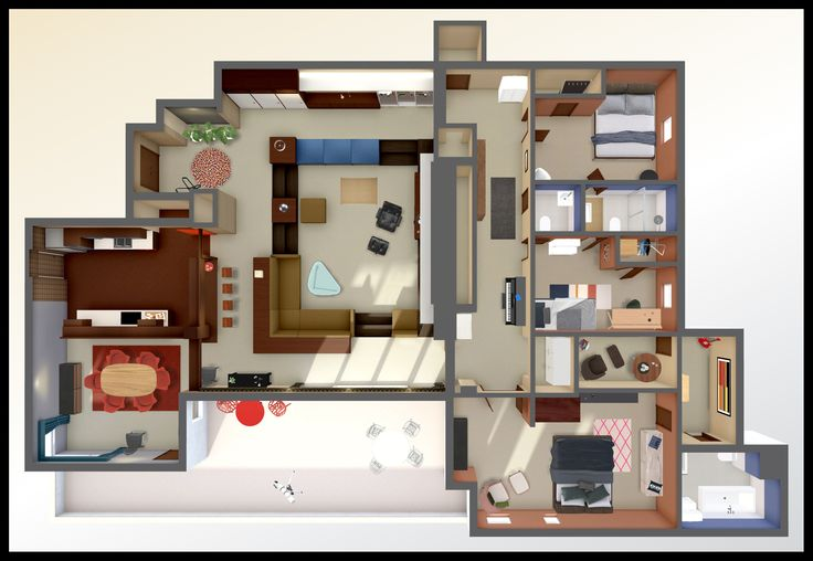 In the 5th season of Mad Men, it's June 1966, and Draper moves into his love nest with his young wife, Megan. The set was designed by Claudette Didul...