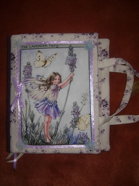 The fairy fabric art journal by eltsamp on Etsy, $65.00