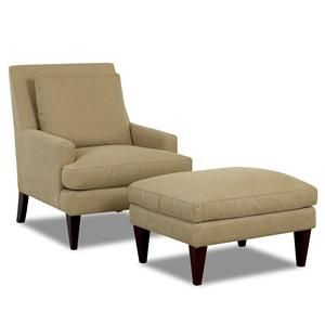Klaussner Chairs And Accents Townsend Chair And Ottoman Set    D11000C+D11000OTTO Beverly Hall