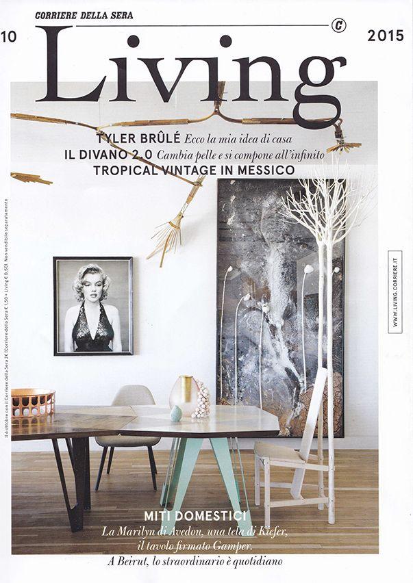 "Fiorita Chair in the October Number of ""Living"", a Corriere della Sera magazine dedicated to furniture and design. #Habito #GiuseppeRivadossi"