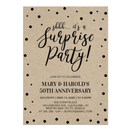 Black & Marble | 50th Surprise Wedding Anniversary Card - wedding party gifts equipment accessories ideas