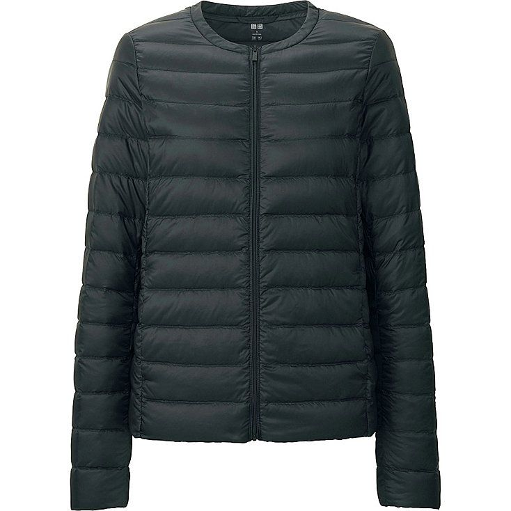 UNIQLO - Ultra-light down compact jacket to wear under a coat for extra warmth. PERFECT for travel. I need one that isn't down-filled.