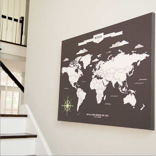 119 best gifts images on pinterest holiday gifts holiday gift travel map personalized interactive world map mark your travels gumiabroncs Choice Image