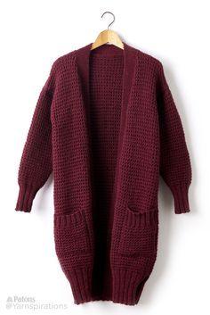 Long Weekend Knit Cardigan - Padrão Livre   Yarnspirations