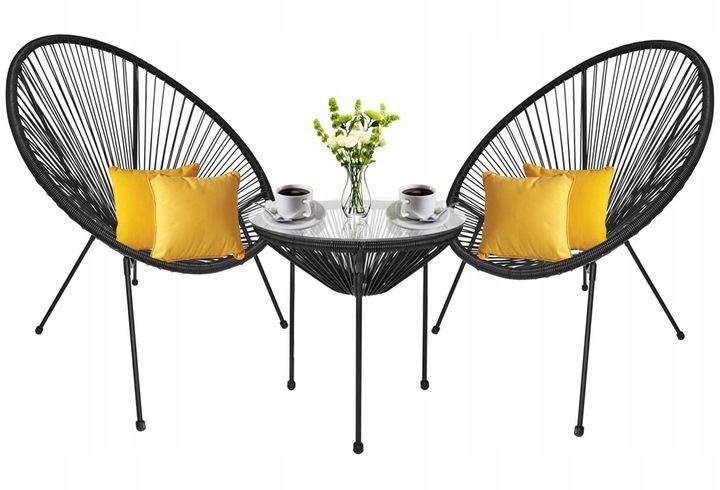 Zestaw Mebli Ogrodowych 2 Krzesla Stolik Strip 7946571205 Allegro Pl Furniture Home Decor Decor