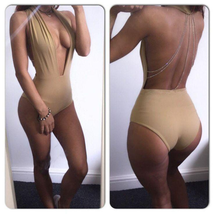 summer Women Rompers deep v-neck high waist Bodycon style swimwears bathing sexy swimsuit womens Jumpsuits Bodysuit tops
