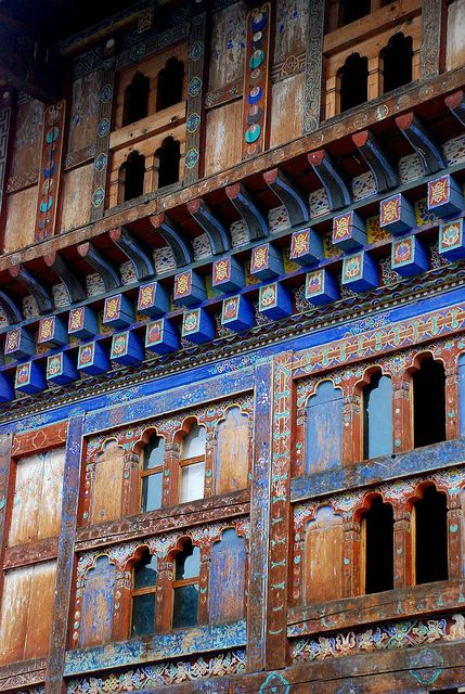 architecture in Bhutan, www.marmaladetoast.co.za #travel find us on facebook www.Facebook.com/marmaladetoastsa #inspired