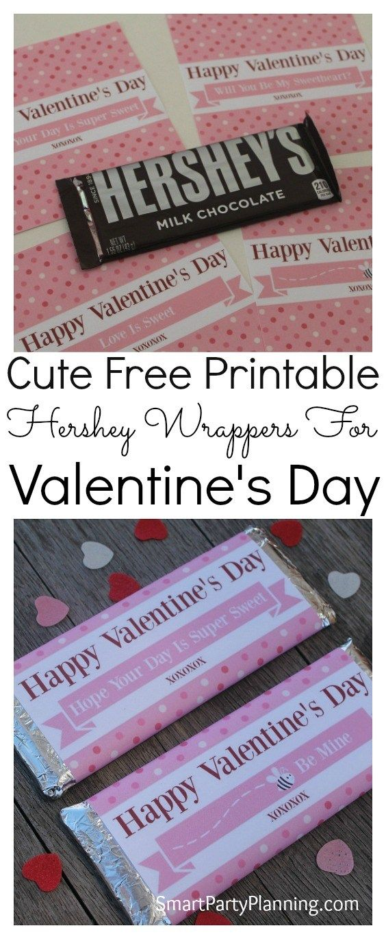 Gorgeous FREE printable Valentine Hershey bar wrappers which are perfect to use as a gift on Valentine's day. Made to fit Hershey wrappers (1.55oz), they can be used for him, for her or for the kids. They are a quick, easy, and a no mess, no fuss gift! Isn't that what we are all looking for? The simple things in life are often the best. #Printable #Valentines #Hershey #Gift